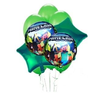 Minecraft Kids Balloon Bouquet