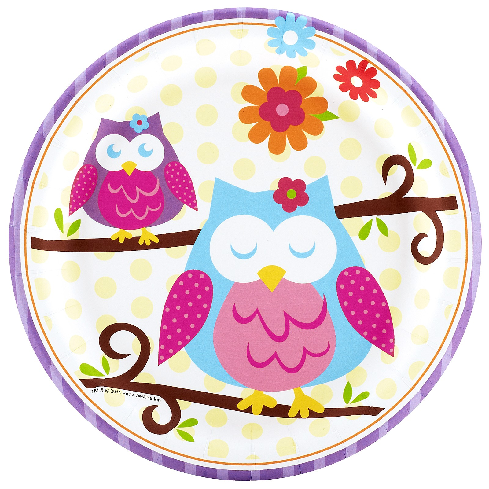 OWL BLOSSOM DESSERT PLATES | This Party Started