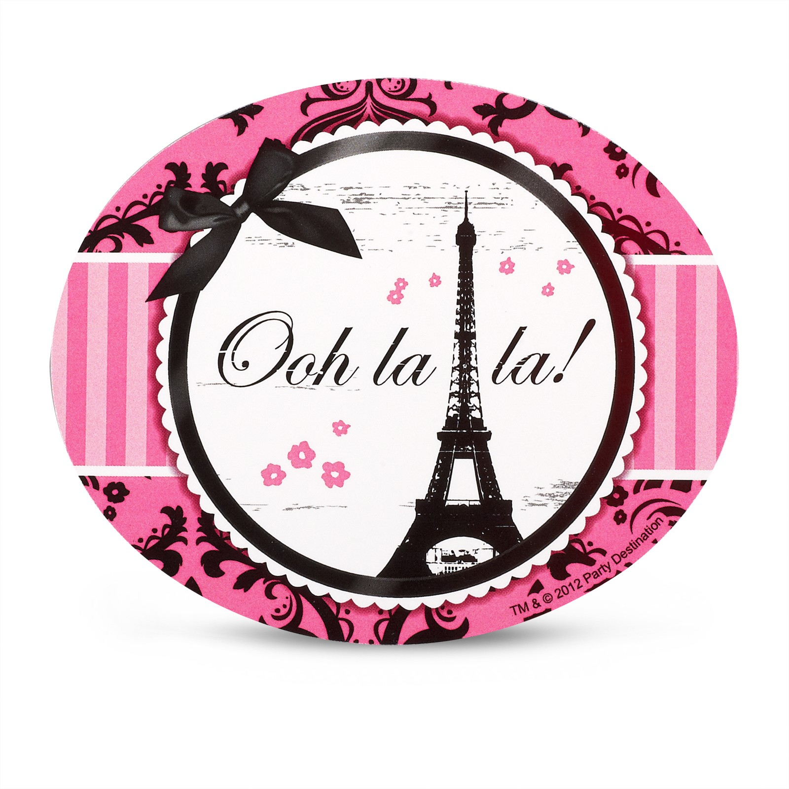 Paris damask stickers this party started - Stickers et decoration ...