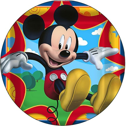 Round Mickey Mouse Cake Toppers