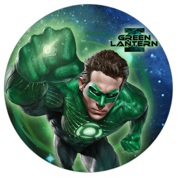 Green Lantern Cake Icing Image This Party Started