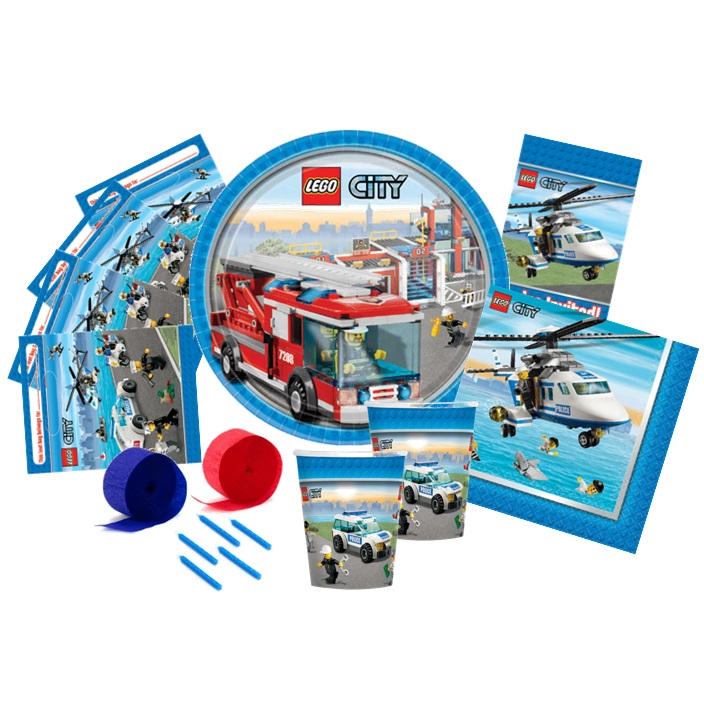 Home boys themes lego party supplies lego city party pack