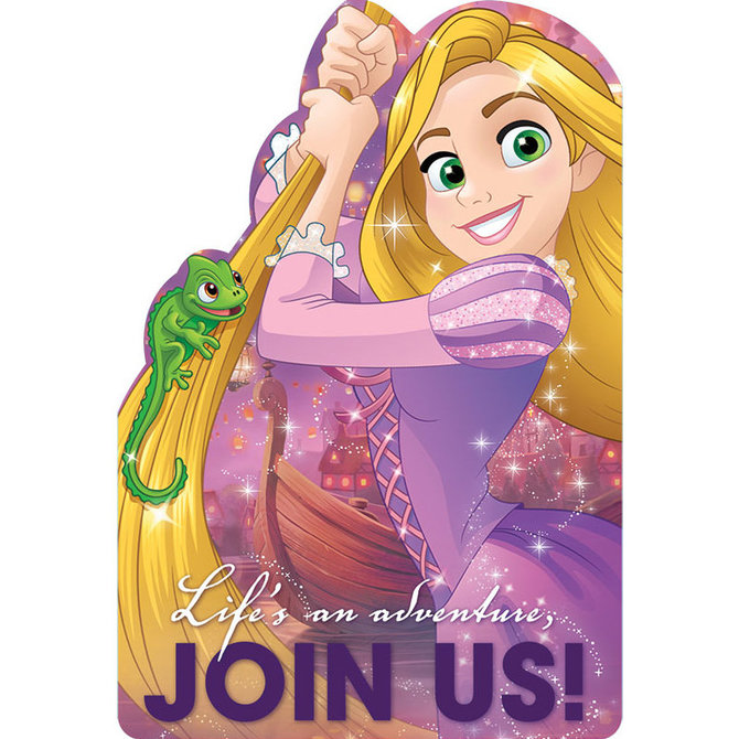 Tangled Rapunzel Invitations Tangled Party Supplies This Party