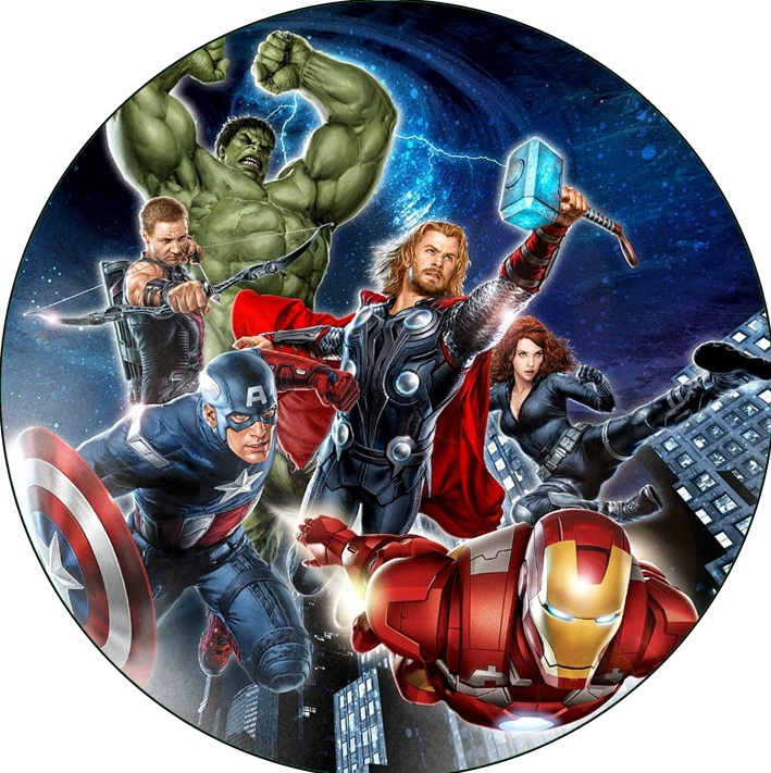 Avengers Cake Icing Image This Party Started