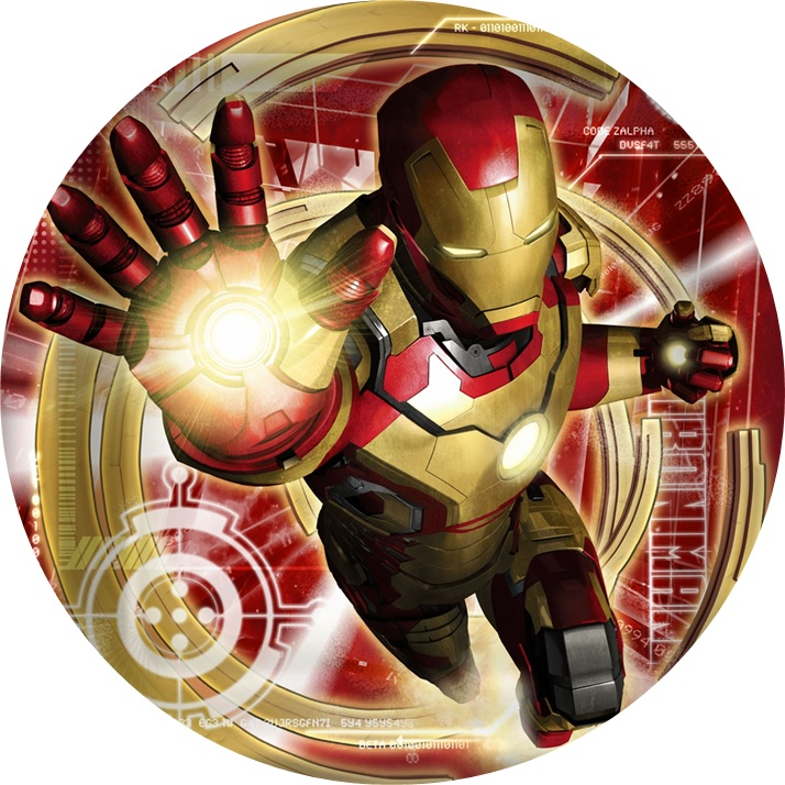 Iron Man Cake Topper Template