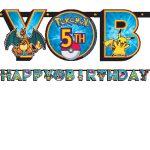 Pokemon & Friends BIRTHDAY BANNER