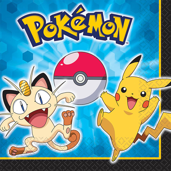 Pokemon & Friends LUNCH NAPKINS | This Party Started