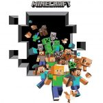 MINECRAFT 3D WALL STICKER 50cm x 70cm