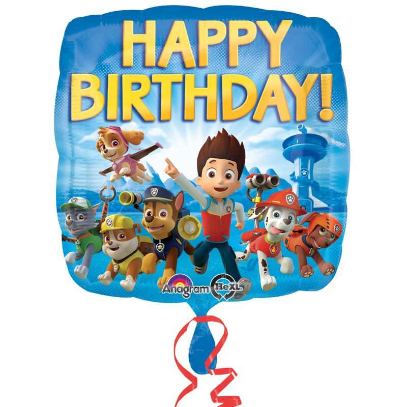 PAW PATROL Happy Birthday Foil Balloon This Party Started