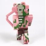 Minecraft Zombie Pigman Keyring