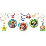 Super Mario Swirl Decorations 12ct