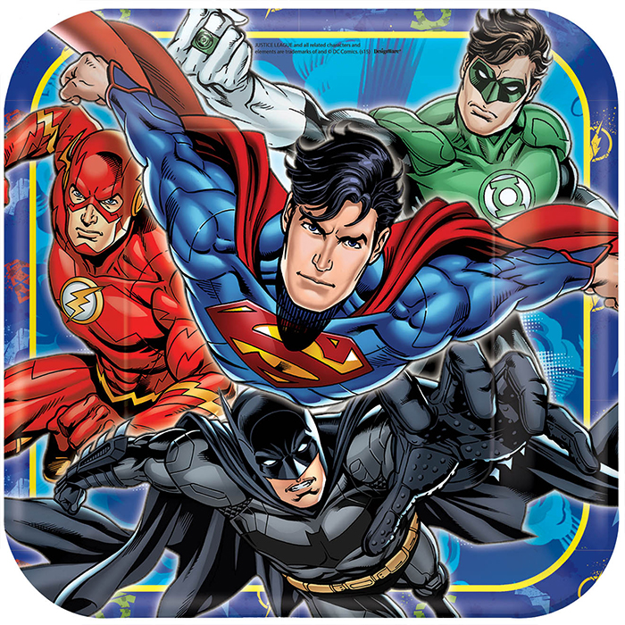 JUSTICE LEAGUE DINNER PLATE