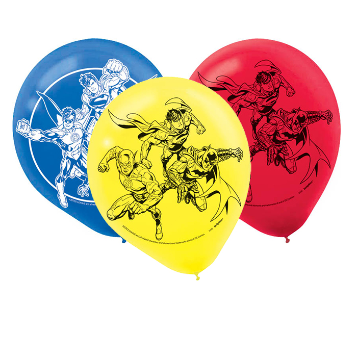 Justice league latex balloons party