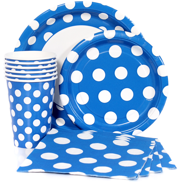 Blue Polka Dot Party Supplies