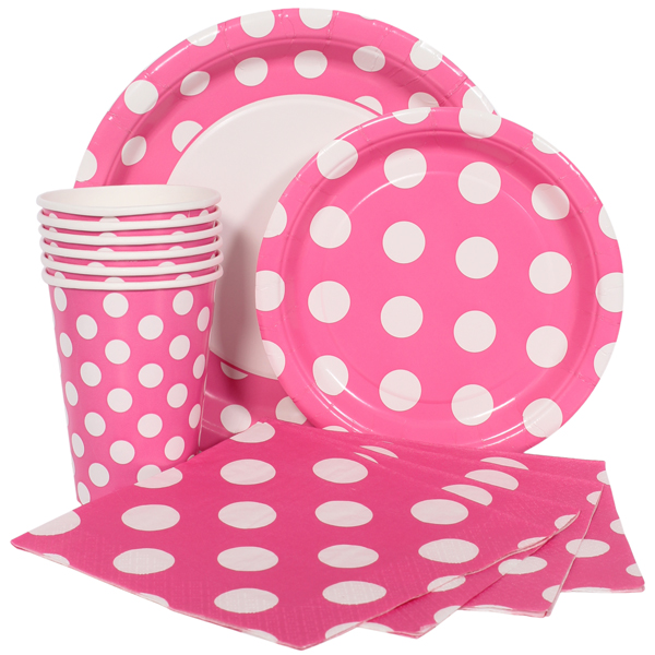 Pink Polka Dot Party Supplies