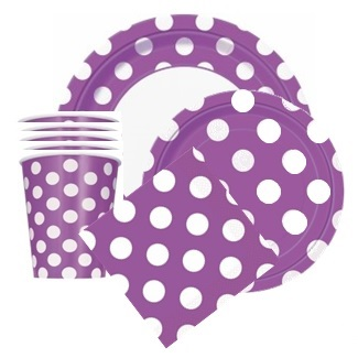 Purple Polka Dot Party Supplies