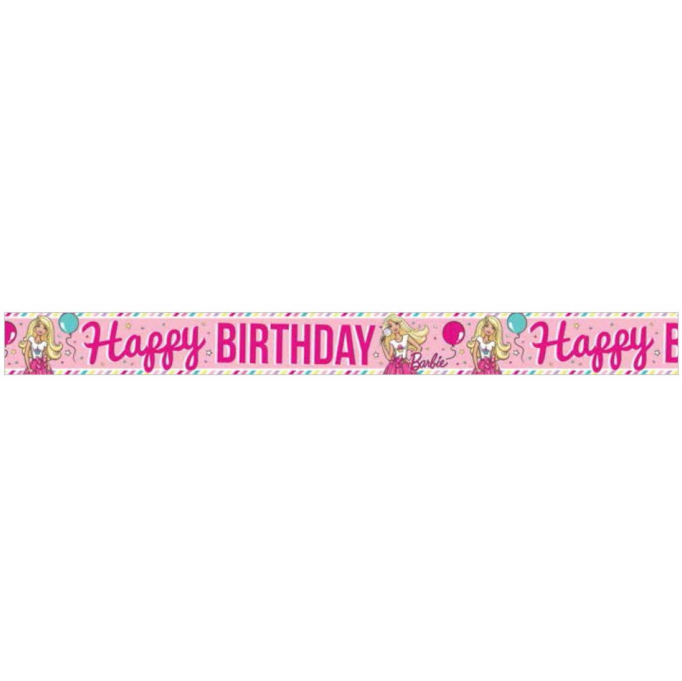 barbie birthday banner  barbie party supplies  this party started