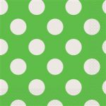 DOTS LIME GREEN 16 LUNCH NAPKINS