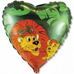 Lion King Green Foil Balloon