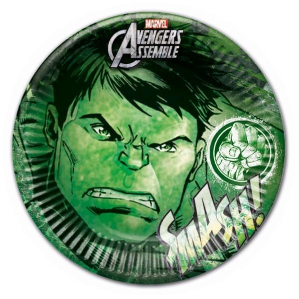 Hulk Paper Plates