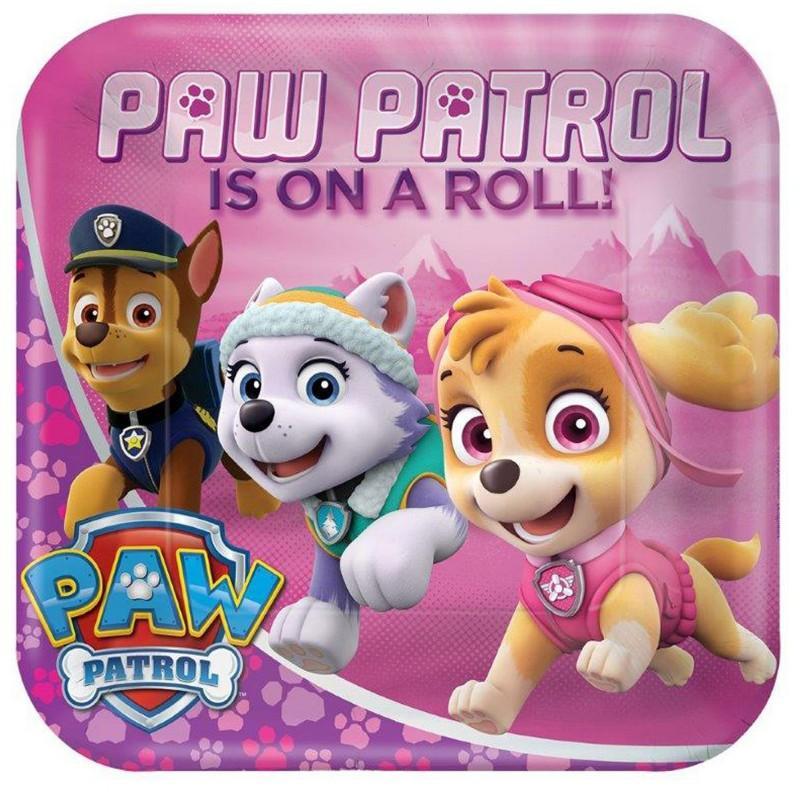 Pink Paw Patrol Girl 9 Dinner Plates (8)