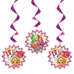 Shopkins Swirl Decorations 3ct