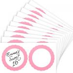 Light Pink Favor Sticker Labels 20ct