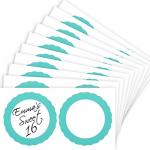 Robin's Egg Blue Favor Sticker Labels 20ct