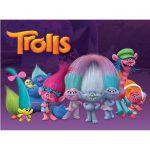 Trolls Cake Image A4-3
