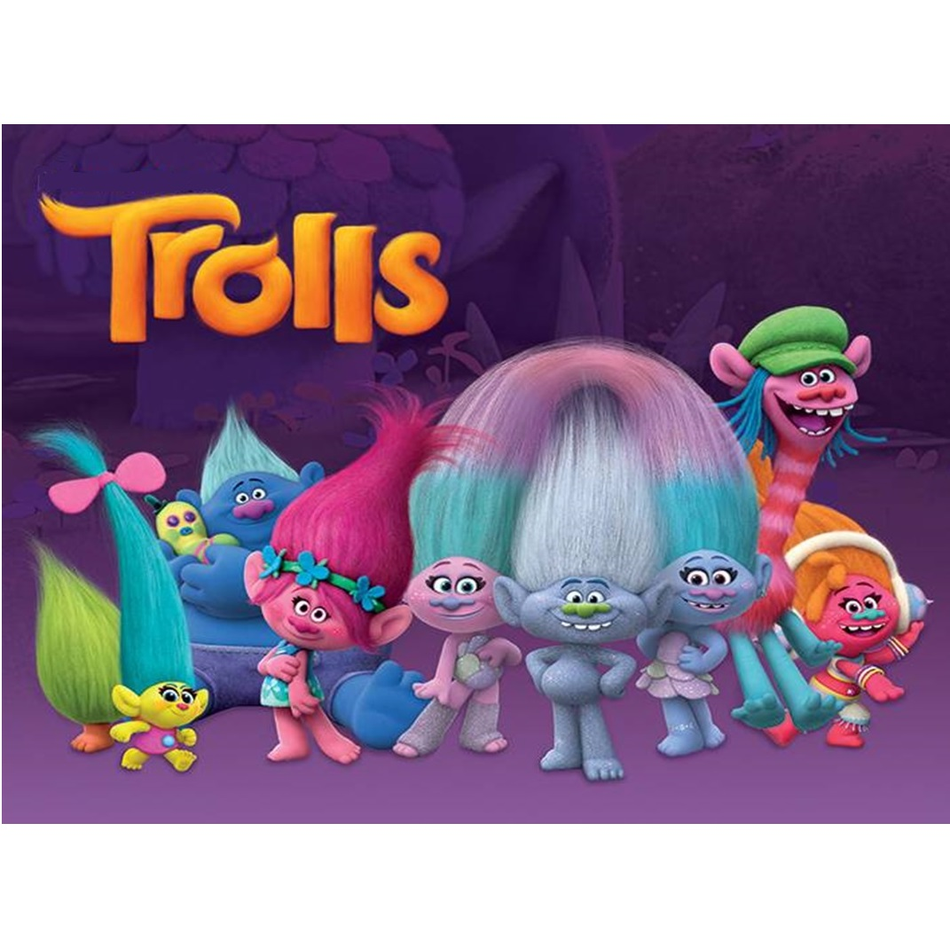 Trolls Cake Image A4 Trolls Party Supplies This Party