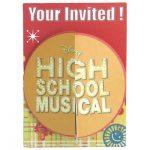 HIGH SCHOOL MUSICAL INVITES