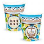 OWL BLUE HOOT HOOT CUPS