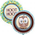 OWL BLUE HOOT HOOT FOIL BALLOON
