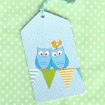 OWL BLUE TAGS