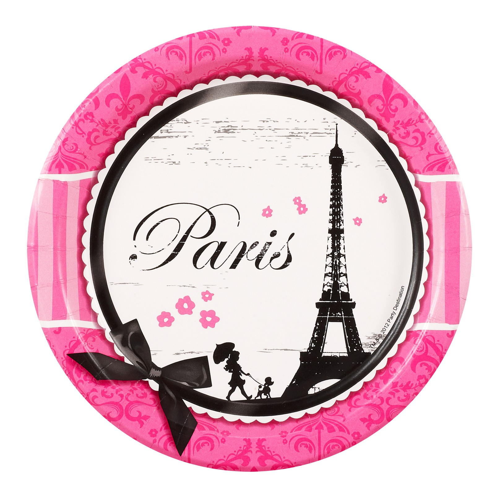 Paris Damask Dessert Plates This Party Started
