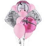 PARIS DAMASK Deluxe Balloon Bouqet