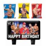 WWE MOLDED CAKE CANDLE SET