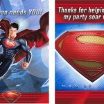 SUPERMAN INVITATIONS and THANK YOU