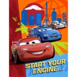DISNEY CARS 2 INVITATIONS