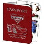 DISNEY CARS 2 PASSPORT STICKER BOOK