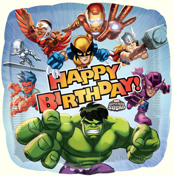 Marvel Hero Squad Happy Birthday Foil Balloon This Party Started