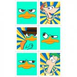 PHINEAS-FERB-AGENT STICKERS