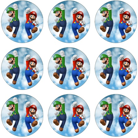 Super Mario Cupcake Icing Images This Party Started