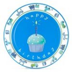 Boys Little 1 Birthday Dessert Plates