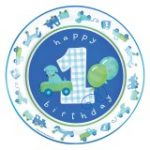 Boys Little 1 Birthday Dinner Plates