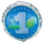 BOYS LITTLE 1st BIRTHDAY FOIL BALLOON