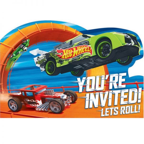 Hot Wheels Wild Racer Postcard Invitations