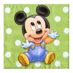 MICKEYS 1ST BIRTHDAY BEVERAGE NAPKIN