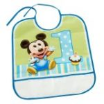 MICKEYS 1ST BIRTHDAY BIB