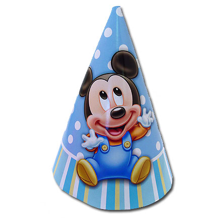 MICKEYS 1ST BIRTHDAY CONE HAT